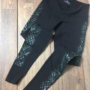 Lululemon Iridescent Embellished Black Leggings